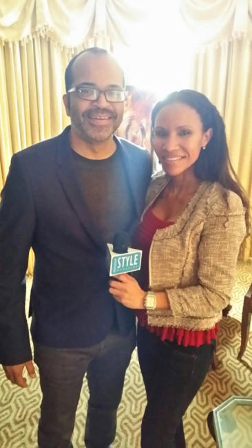 MiMi with actor Jeffrey Wright